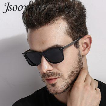 Jsooyan Vintage Retro Sunglasses Men Polarized Square 2019 Brand Designer Sun Glasses For Men UV400 Driving Mirror Goggle