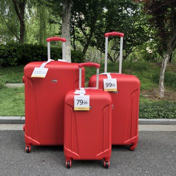 TRAVEL TALE 20″24″28″ inch ABS cheap rolling luggage set Tsa expandable trolley travel bag set with wheels