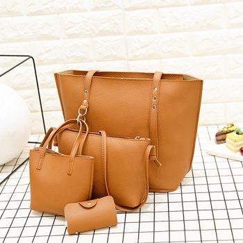 Luxury Handbags Women Bags Designer Leather Four-Piece Shoulder Crossbody Bag Clutch Wallet Retro Bag Messenger Bags For Women