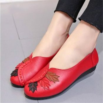Dropshipping 2018 Soft Women Shoes Flats Moccasins Slip on Loafers Genuine Leather Ballet Shoes Fashion Casual Ladies Footwear