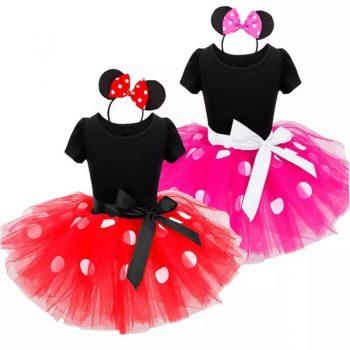 Fancy Kids Dresses for Girls Birthday Halloween Cosplay Cartoon Minnie Mouse Dress Up Kid Costume Baby Girls Kids 2 6T Wear