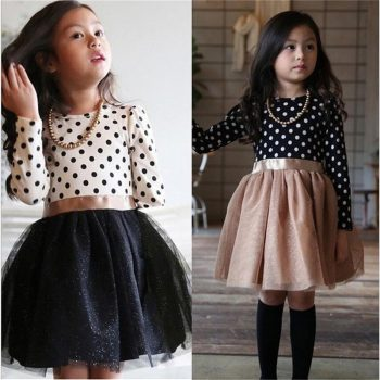 Baby Girl Long Sleeve Polka Dot Dress Girls Autumn Winter 2019 Princess Teenage Casual Wear School Kids Girls Party Tutu Dresses