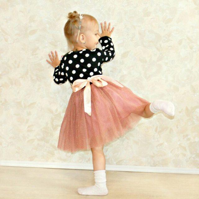 2019 Autumn Winter Girl Dress Long Sleeve Polka Dot Girls Dresses Bow Princess Teenage Casual Dress 8 Years Children Clothes