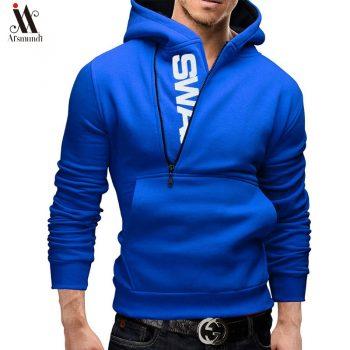 Hoodies Men  Spring Fashion Tracksuit Sweatshirt Men's Winter Warm Collar Cap Long Sleeves Pullover Hoody Sweatshirts2019