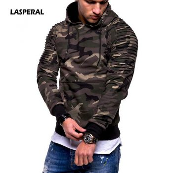 LASPERAL Camouflage Hoodies Men 2019 New Fashion Sweatshirt Male Camo Hoody Hip  Autumn Winter Military Hoodie Plus Size 3XL