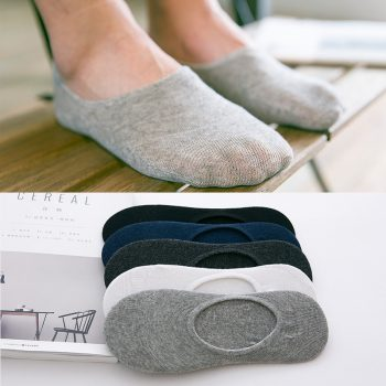 5Pairs/Lot Fashion Casual Men Socks High Quality Banboo & Cotton Socks Brief Invisible Slippers Male Shallow