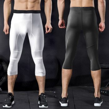 Men Compression Leggings Pants Quick Drying Breathable for Outdooe Fitness Sports IK88