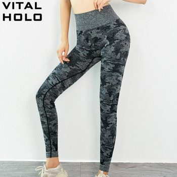 Camo Seamless Leggings Fitness Women Yoga Pants Push Up Gym Leggings  High Waist Sport Leggings Yoga Sport Wear For Women Gym