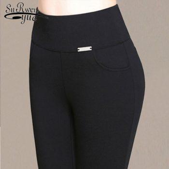 Plus Size Pencil Pants High Waist Pants 2019 New Fashion Women Skinny Female Casual Trousers High Stretch Leggings 6XL 7228 50