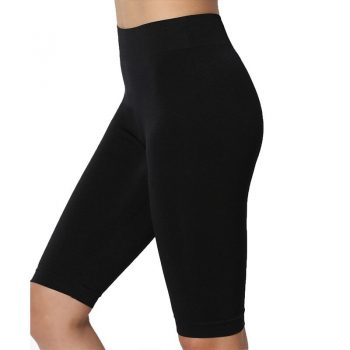 skinny lycra black cycling women shorts workout slimming  running jogger girl dancing wear plus size  M30181