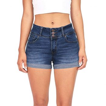 New Women's Solid Color Denim Shorts Hot Women's Low Waist Washed Solid Color Short Mini Jeans Shorts spodenki damskie 40*
