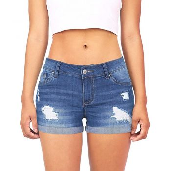 women's shorts Women Low Waisted Washed Ripped Hole Short Mini Jeans Denim summer Shorts feminino