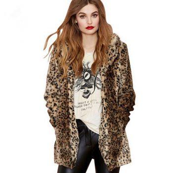 Autumn Winter Women 'S Winter Coats Outerwear Furry Clothes Coat Fur Warm Jacket Cross-Border AliExpress Faux Rabbit Fur Coat Fe