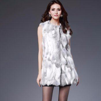 Free Shipping Hot Sale Fur Vest Women Rabbit Fur Vest Real Fur Coats For Women Fur Vest Gilet Woman Coat Outwear