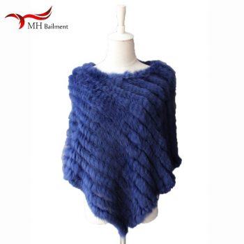Fur hot sale rabbit Fur triangle woven cloak coat scarf bib women out windproof warm real rex rabbit Fur knit shawl womens