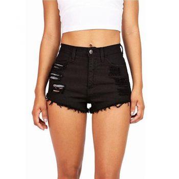 Mid Waist Denim Shorts Size XL Female Short Jeans for Women 2017 Summer Ladies Hot Shorts solid crimping denim shorts