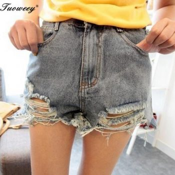 2019 new arrival sexy casual summer hot sale denim women shorts high waists fur-lined leg-openings Plus size sexy short Jeans
