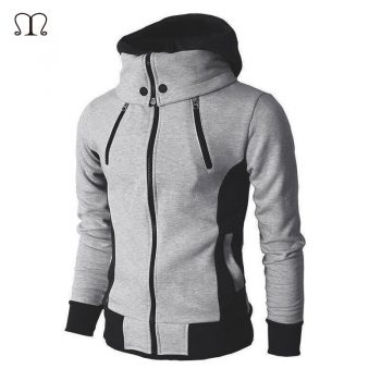 Windbreaker Jackets Man Fashion 2019 New Autumn Winter Men's Jacket Zipper Male Solid Sportswear Fleece Warm Hooded Coat Outwear