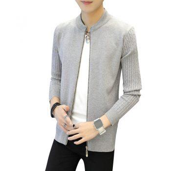 2020 Men's sweater jackets white color warm coat spring Autumn Winter jacket men Clothes Streetwear M-3XL