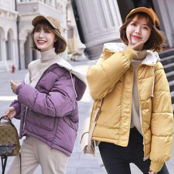 Women Jackets Women Parka Winter Short Generation Jacket Waist New Big Pocket Female Leisure Coat Down Cotton Jacket BWH005