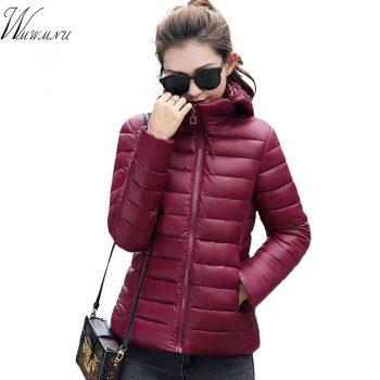 Wmwmnu Autumn Parkas Women Tops thin and Slim Coats Fashion Colorful Parkas down cotton Outwear Parkas Female Winter