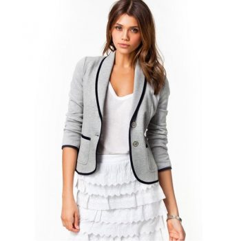 Blazer Woman Spring Short Blazer Women Slim Turn Down Collar Women Jacket Blazer Plus Size Women Blazers And Jackets Feminino