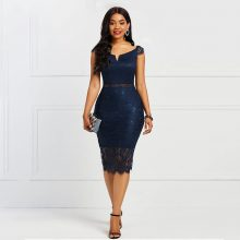Sisjuly Bodycon Women Dress Lace Slash Neck Hollow Backless Sexy Elegant OL Party Chic Summer Patchwork Sheath Retro Dresses