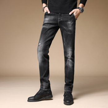 DEE MOONLY retail & wholesale brand jeans men pants ,Leisure&Casual pants,Zipper fly Straight Cotton Men biker Jeans trousers
