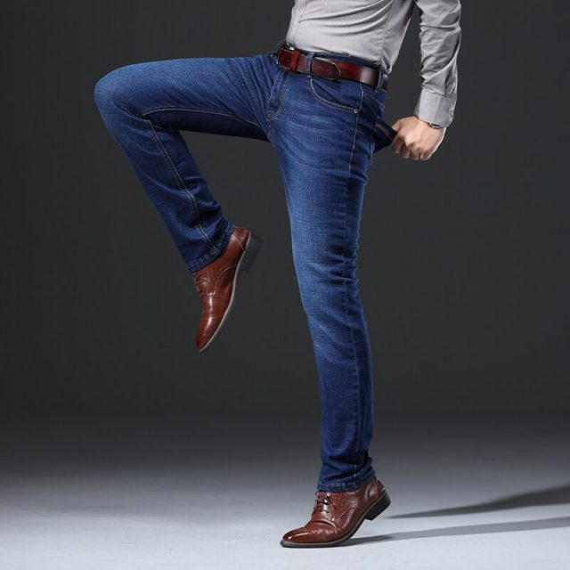 Brand 2019 New Men's Fashion Jeans Business Casual Stretch Slim Jeans Classic Trousers Denim Pants Male 101