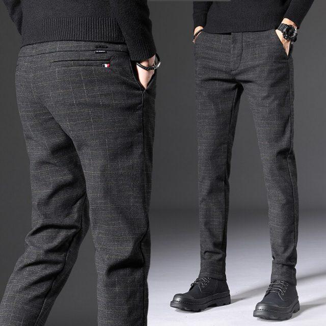 2019 Autumn New Men's Slim Casual Pants Fashion Elasticity Business Black Trousers Male Brand Clothes