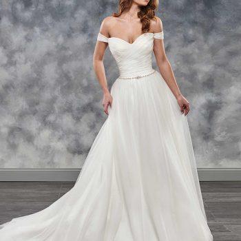 Simple Beach Wedding Dress 2019 Pleated Bodice Crystal Waist Elegant Robe de Mariee Ivory Vestido de Novia Playa Bridal Gown