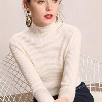 Fall New Women Turtleneck Sweater Pullover Black Pink Knitted Slim Sweaters Tops Winter Casual Sweater Jumper Top