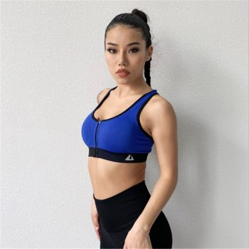 Women Absorb Sweat Sports Bra Shockproof Padded Sports Bra Tops Stretch Athletic Running Fitness Yoga Sports Tops