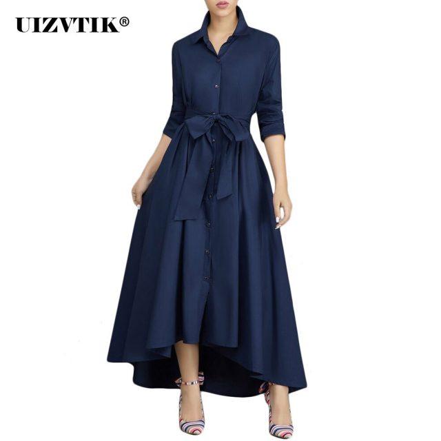 Vintage Bandage Shirt Dress Women Autumn 2020 Sexy V Neck Long Party Dress Casual Plus Size Slim Office Ball Gown Maxi Dresses