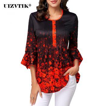 Women T-Shirt Spring Summer Casual Sexy V Neck blusas poleras mujer de moda 2020 Vintage Plus Size Slim Floral Print Womens Tops