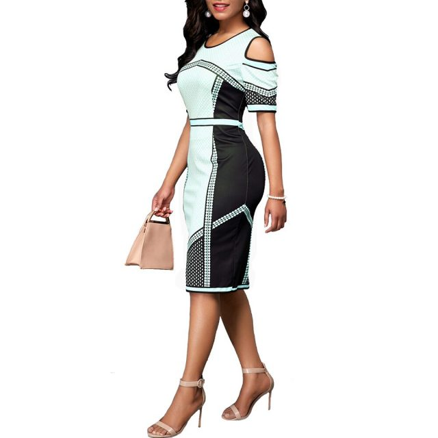 Summer Dress Women 2020 Casual Plus Size Slim Plaid Office Bodycon Dresses Elegant Vintage Sexy Off shoulder Party Dress White