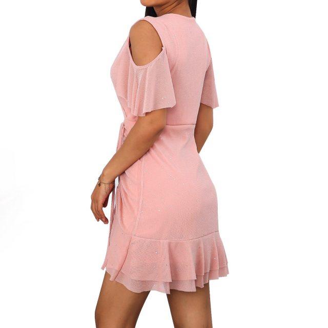 Woman Dress Sexy V Neck Chiffon A Line Summer Dress Women 2020 Vintage Casual Slim Off Shoulder Evening Club Mini Party Dresses
