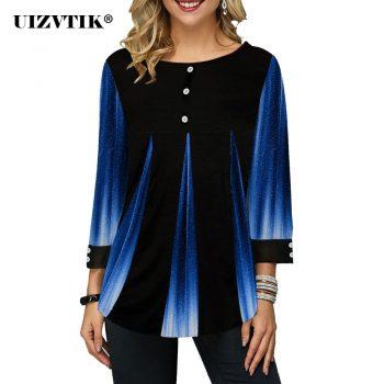 Women T-Shirt Spring Patchwork Colorful blusas poleras mujer de moda 2020 Vintage Plus Size Womens Tops harajuku ropa mujer 5XL