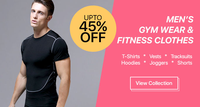 Buy Men's Gym Wear, Fitness Clothes Online.