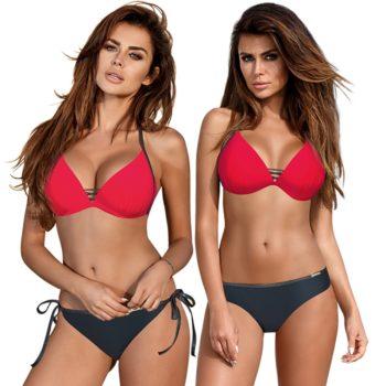 ESSV Red Patchwork Bikini Set Women Push Up Swimsuit Padded Swimwear Halter Summer Swimming Suit Bather Beachwear Biquini XXL