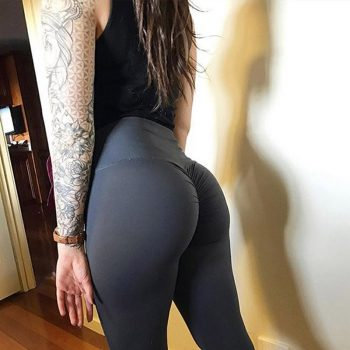 New High Waist Leggings Women Fitness Clothes 2018 Slim Ruched Bodybuilding Women's Pants Athleisure Female Sexy Leggings