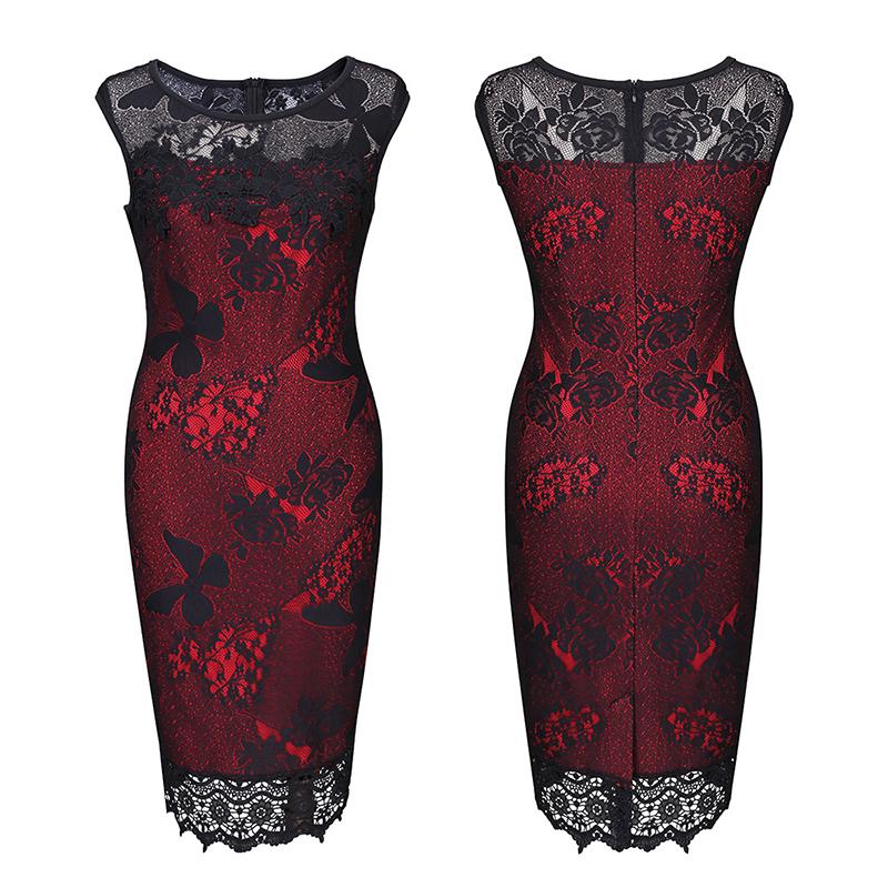 S XXL 5XL Plus Size 2017 Women Pencil Dress Summer Fashion Exquisite Sequins Crochet Butterfly Lace Party Bodycon Dress