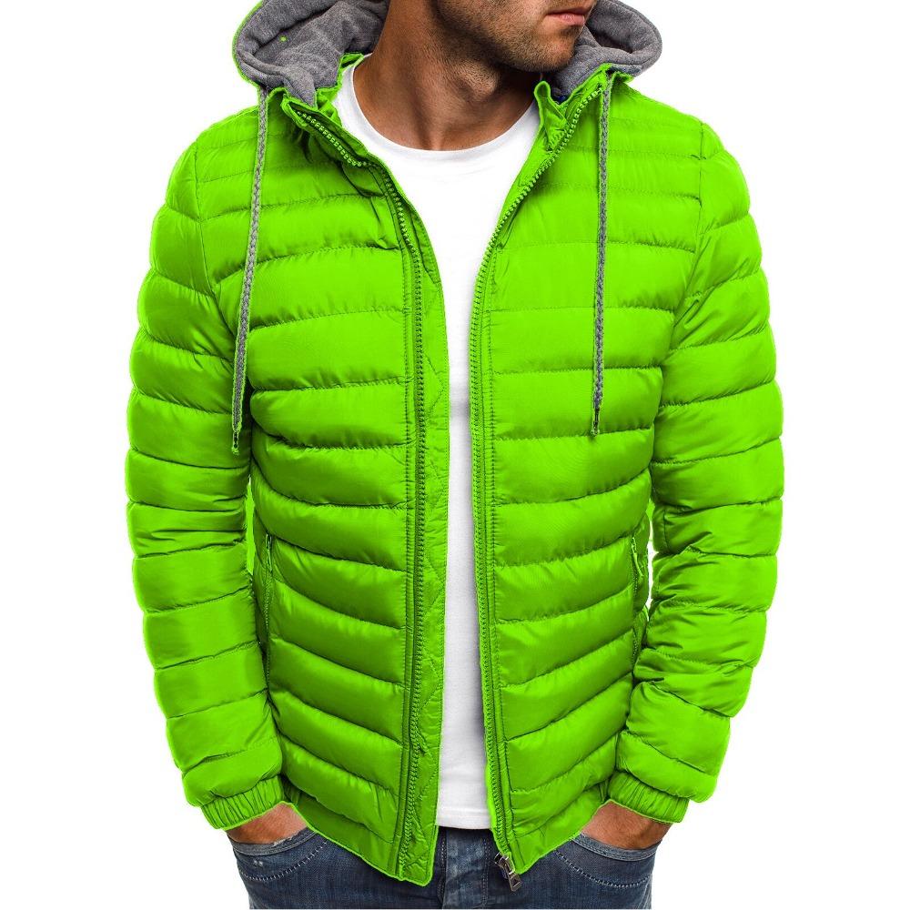 ZOGAA Men Winter Parkas Jacket Fashion Solid Hooded Coat Jackets Zipper Cotton Casual Warm Clothes Overcoat Streetwear Parka Men