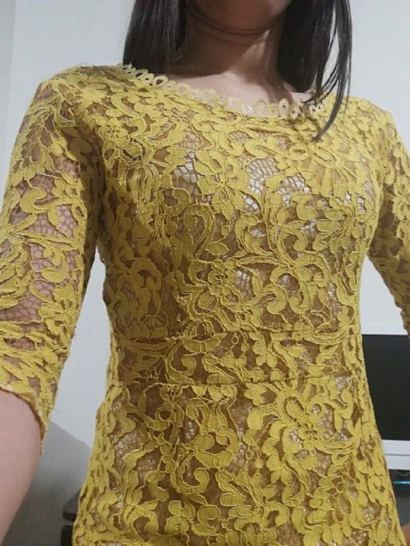 Lguc.H 2018 Luxury Lace Dress Autumn Wrap Dress Noodles Elegant Lady Evening Party Dress Women Clothes Trendy Clothing Yellow XL