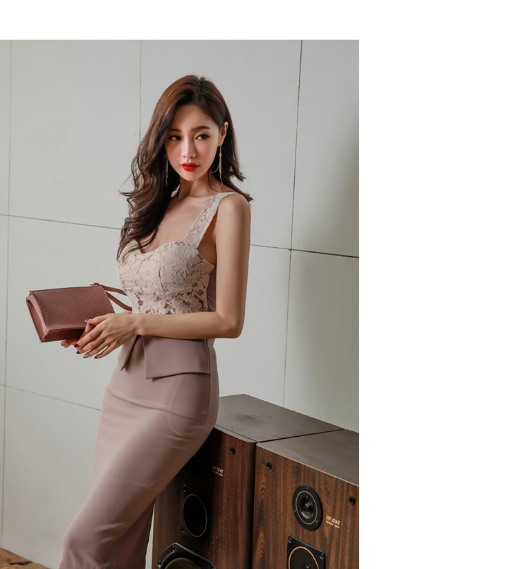 H Han Queen Halter Strapless Summer OL Lace Pencil Dress 2018 New Fashion Sexy V Collar Sleeveless Vintage Club Party Dresses