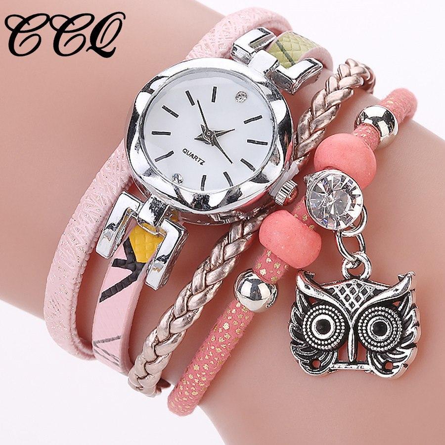 Women Girls Clock Analog Quartz Pendant Owl Ladies Dress Bracelet Watches Relogio Feminino Casual Bayan Kol Saati Hot sale #5/22