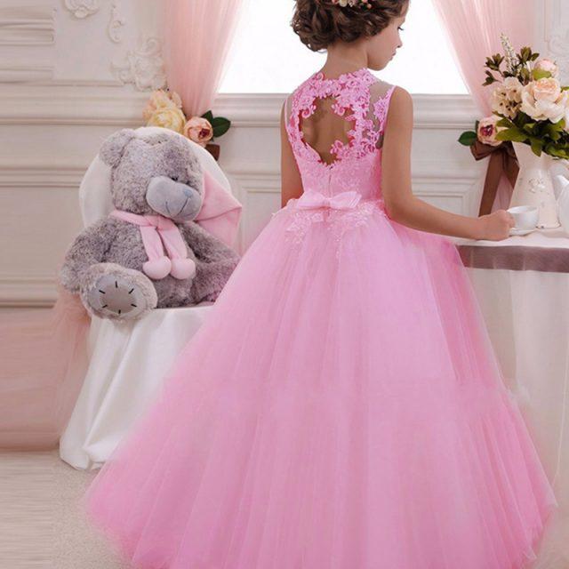 Girls Evening Party Dress 2019 Summer Kids Dresses For Girls Children Costume Elegant Princess Dress Flower Girls Wedding Dress