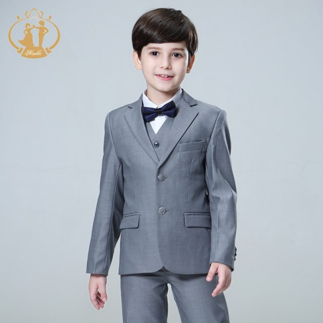 Nimble Suit for Boy Single Breasted Boys Suits for Weddings Costume Enfant Garcon Mariage Boys Blazer Jogging Garcon Grey