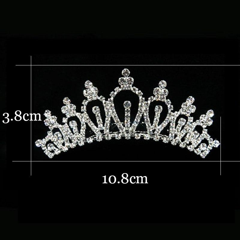 2018 Women Princess Crown Headband Crystal Rhinestone Tiara And Crowns Hair Band Jewelry Silver Bridal Hair Accessories Wedding