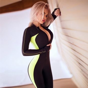 Women Yoga Set Outfit Gym Wear Running Clothing Tracksuit Sexy Ensemble Sportswear Zipper Jumpsuits Fitness Overalls Sport Suit